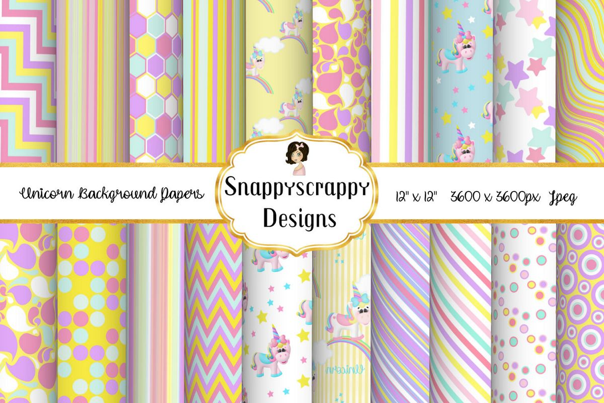 Unicorn Background Papers example image 1