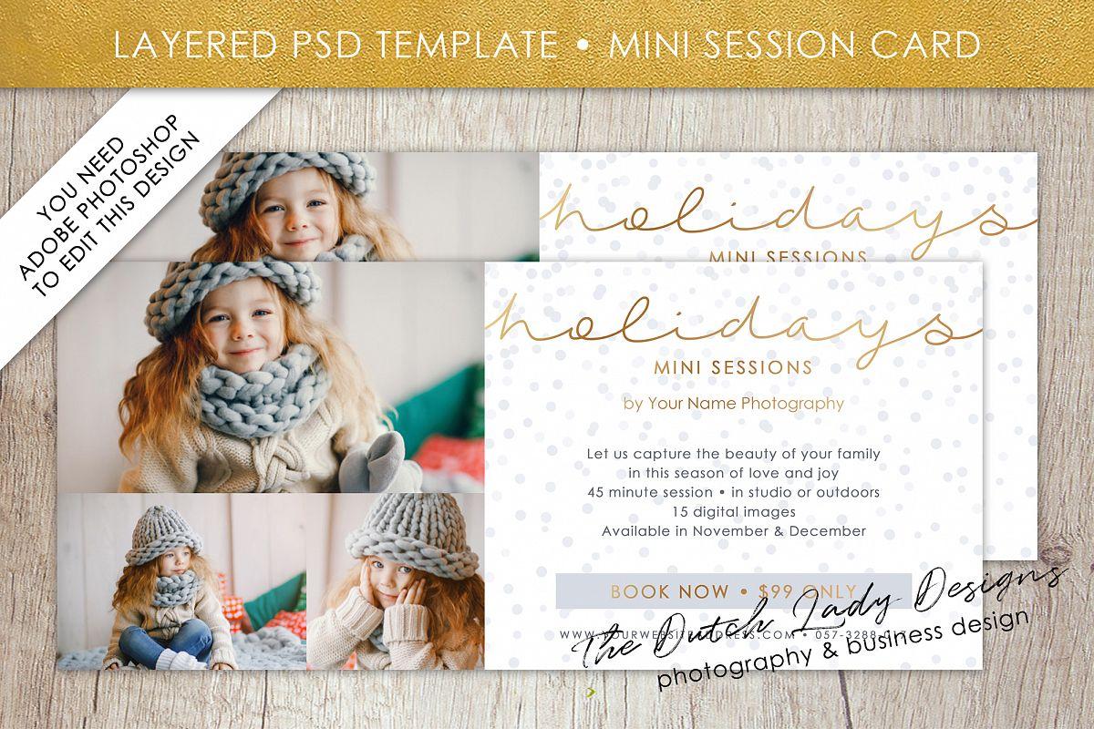 PSD Photo Mini Session Card Template - Design #24 example image 1