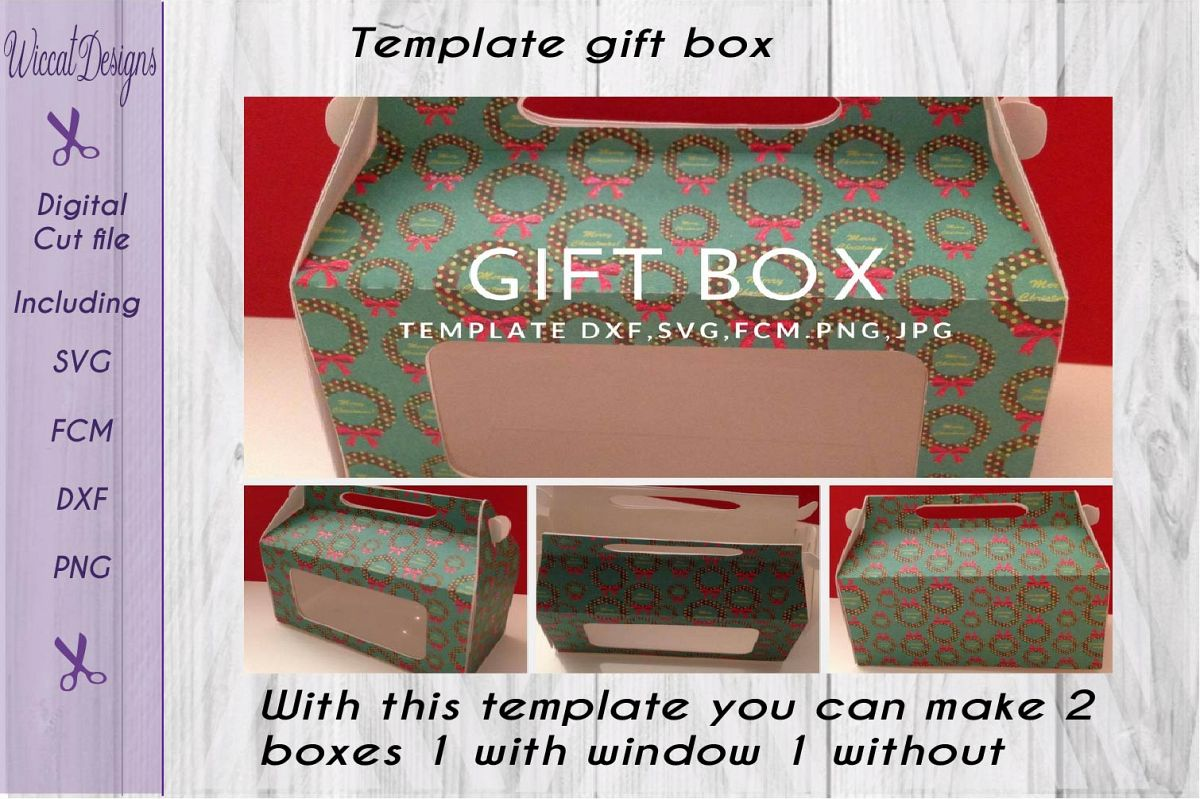 Gift Box Paper Svg Template Example Image 1