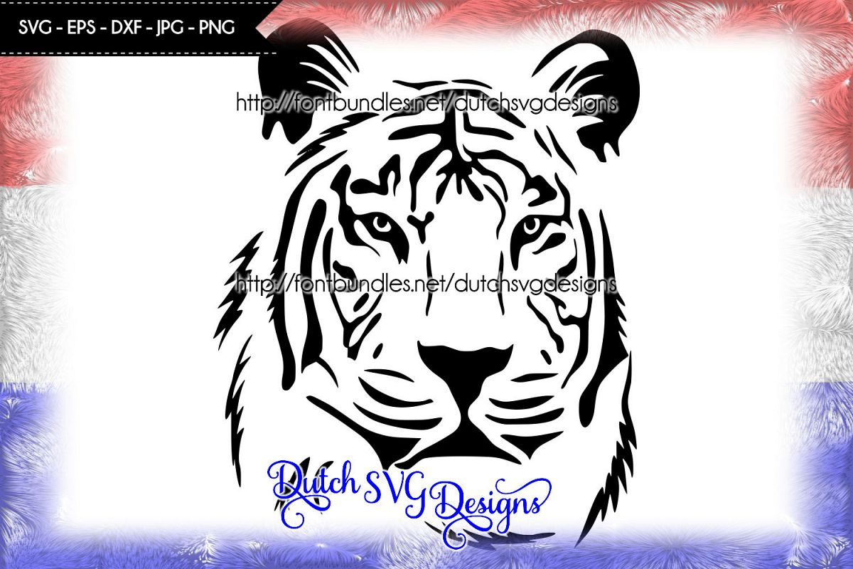Tiger cutting file / tiger svg example image 1