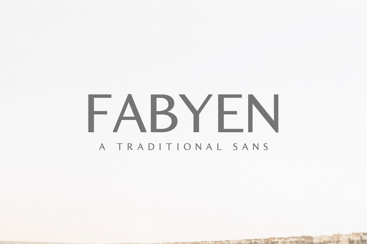 Fabyen A Traditional Sans Font Pack example image 1