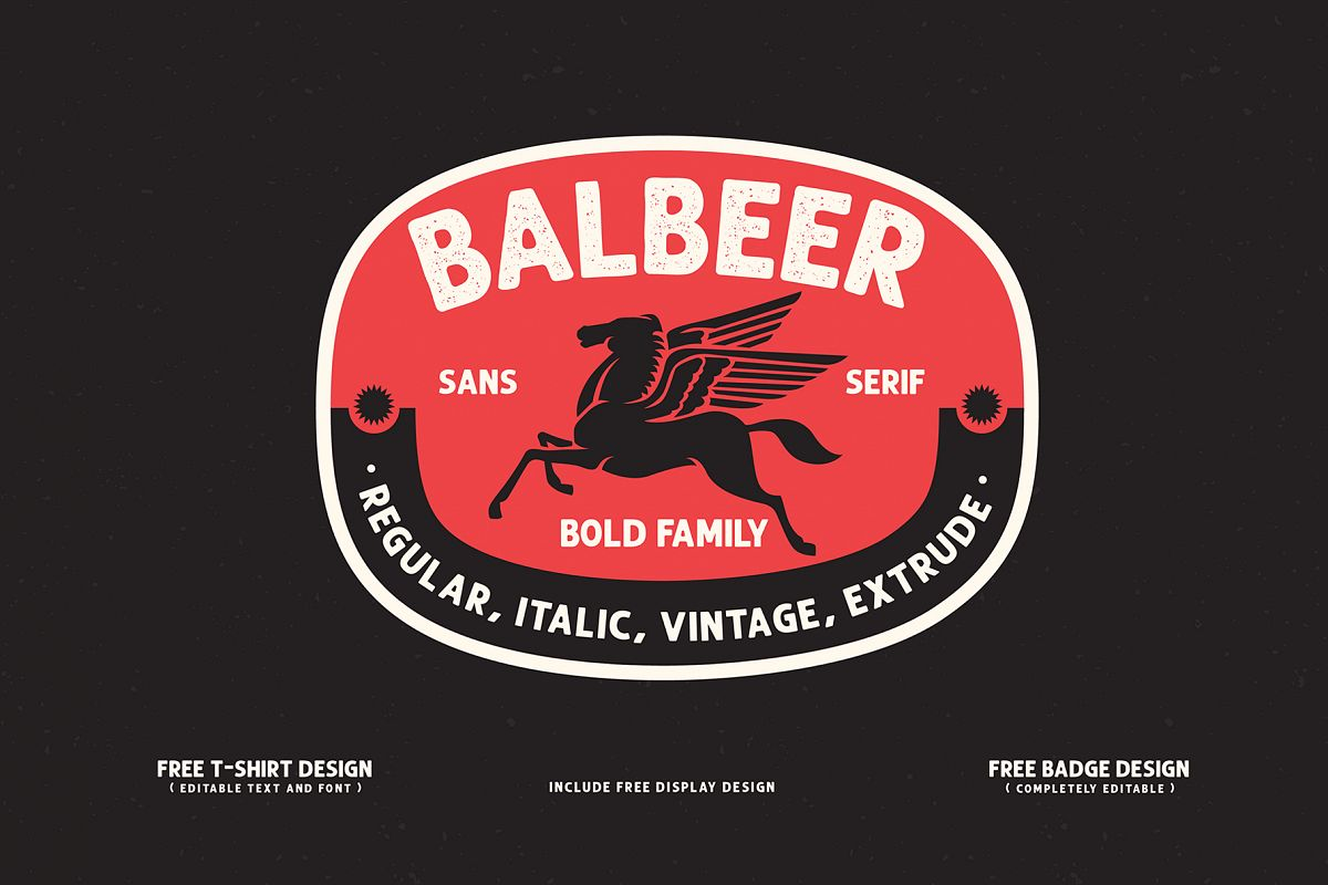 BALBEER FONT FAMILY BONUS - discount till end december example image 1