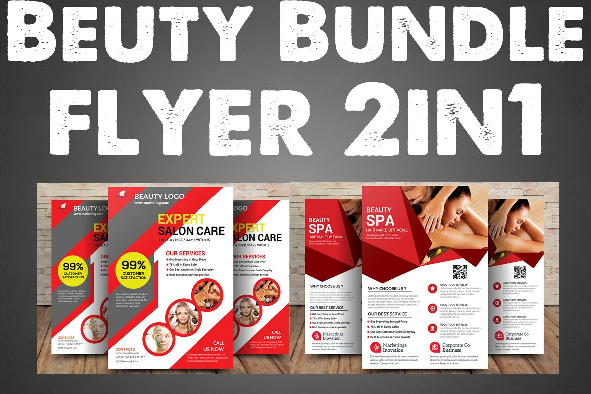 Beuty Bundle Flyer 2in1 example image 1