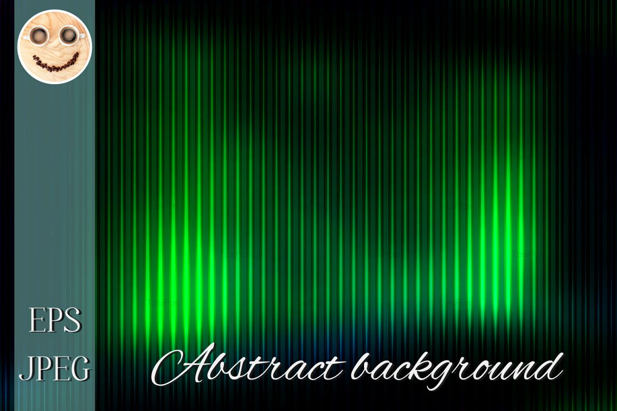 Glowing Neon Green Abstract With Light Lines Blurred Backgro