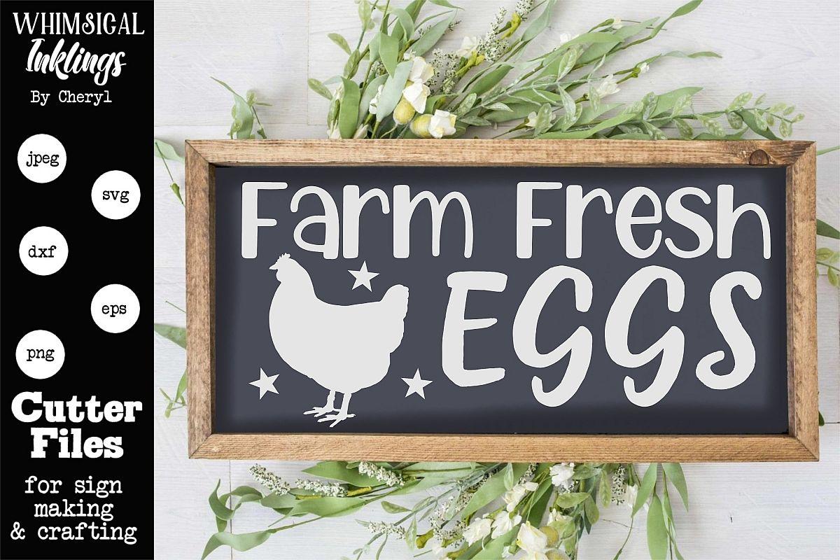 Farm Fresh Eggs 2 SVG example image 1