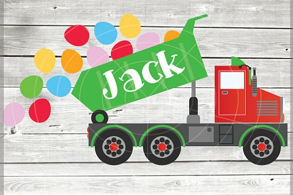 Easter Truck svg - Dump truck svg - EasterTruck - truck svg example image 1