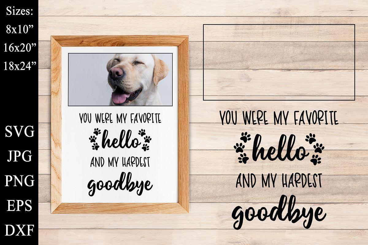 Dog Memorial SVG DXF EPS PNG Dog Best Friend Frame Memorial example image 1