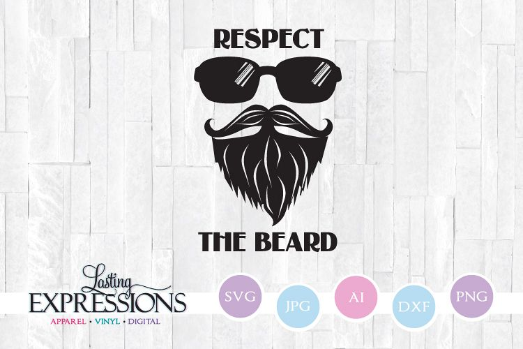 Respect the beard // SVG Quote Design example image 1