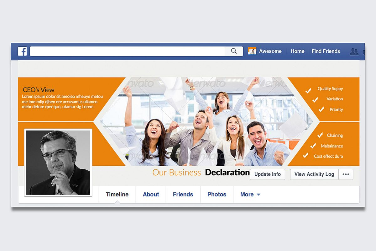 Business Facebook Timeline Cover example image 1