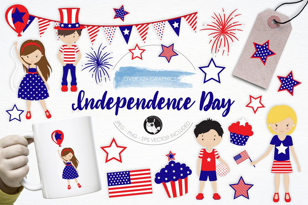 Independence Day graphics and illustrations example image 1