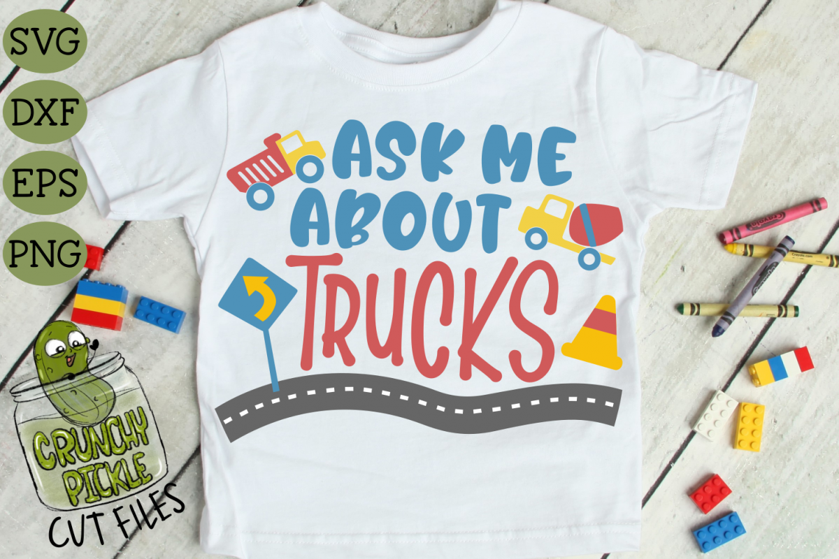 Ask Me About Trucks SVG example image 1