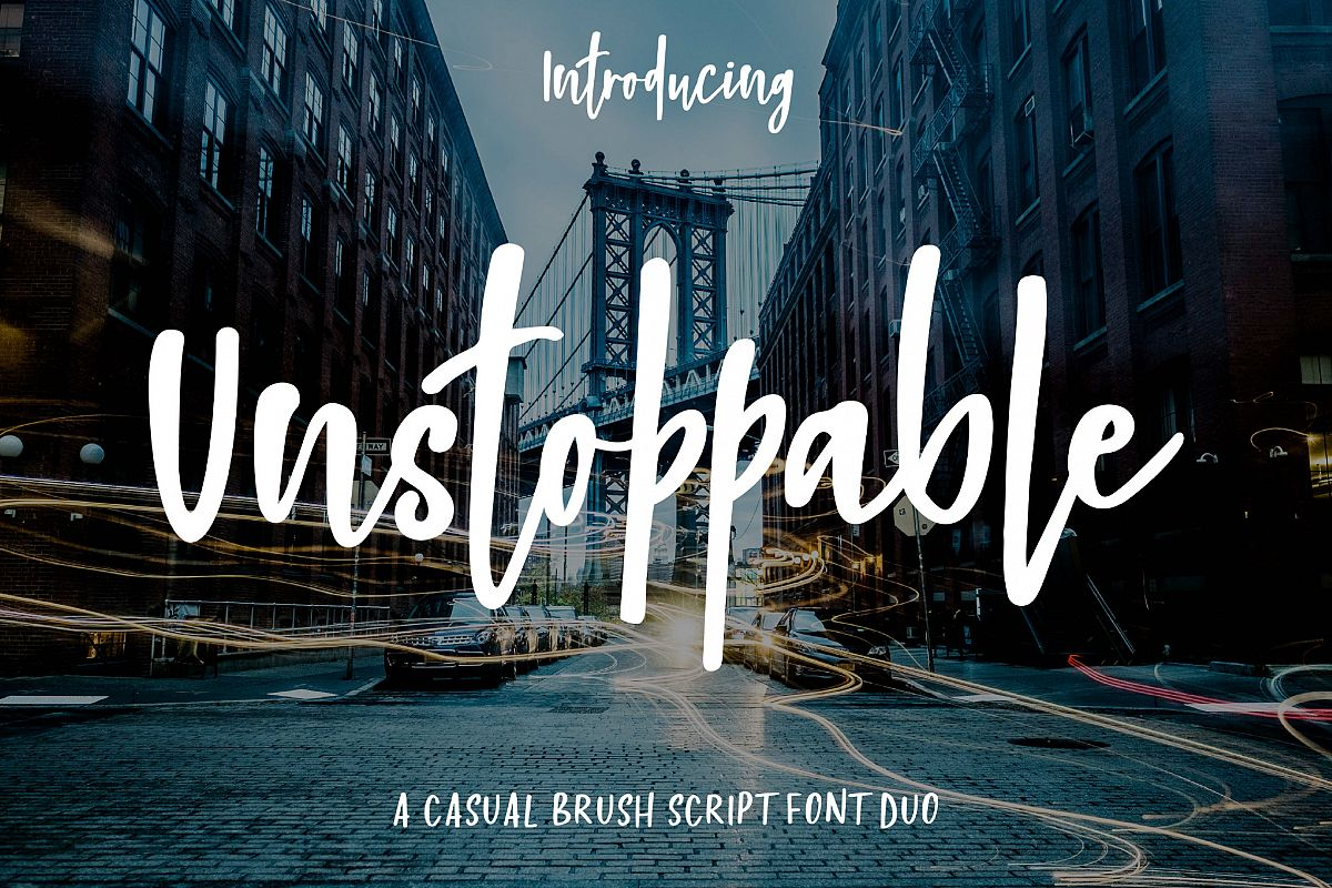Unstoppable Font Duo example image 1