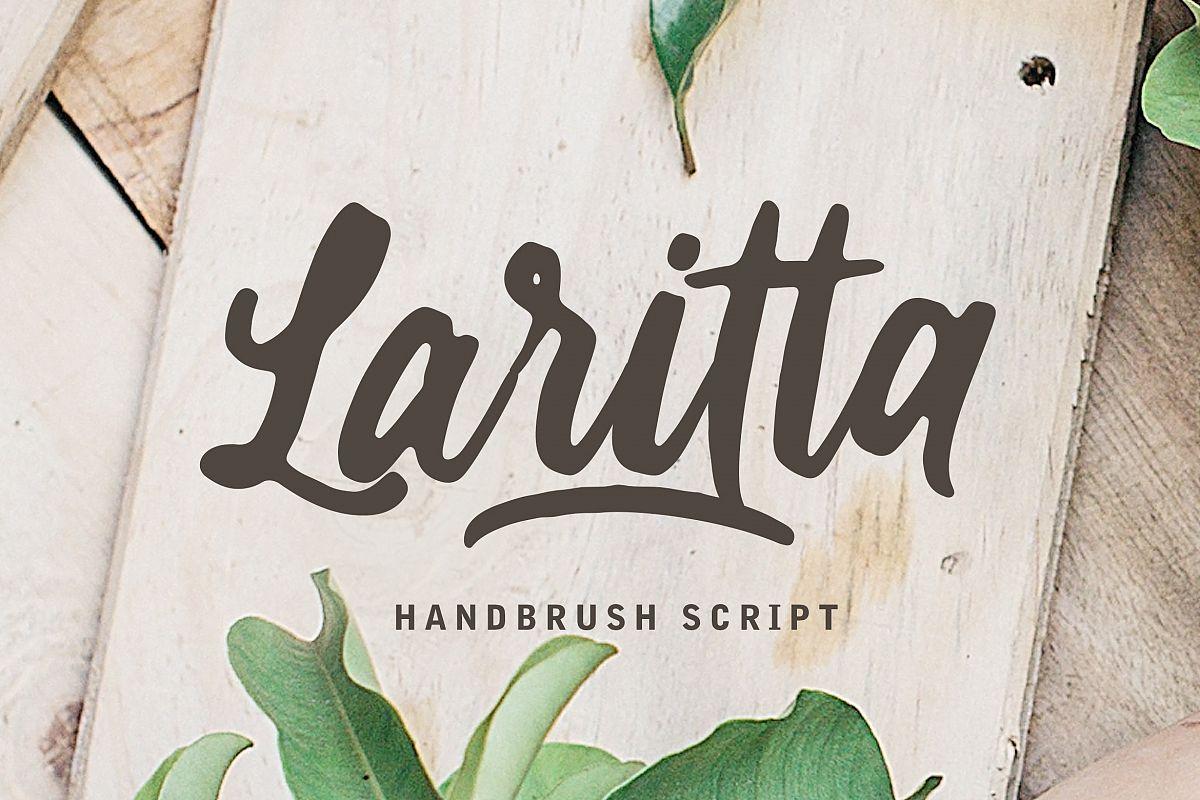 Laritta - Handbrush Script example image 1