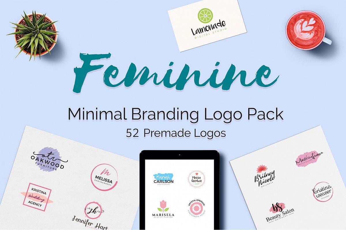 Feminine Minimal Branding Logo Pack example image 1