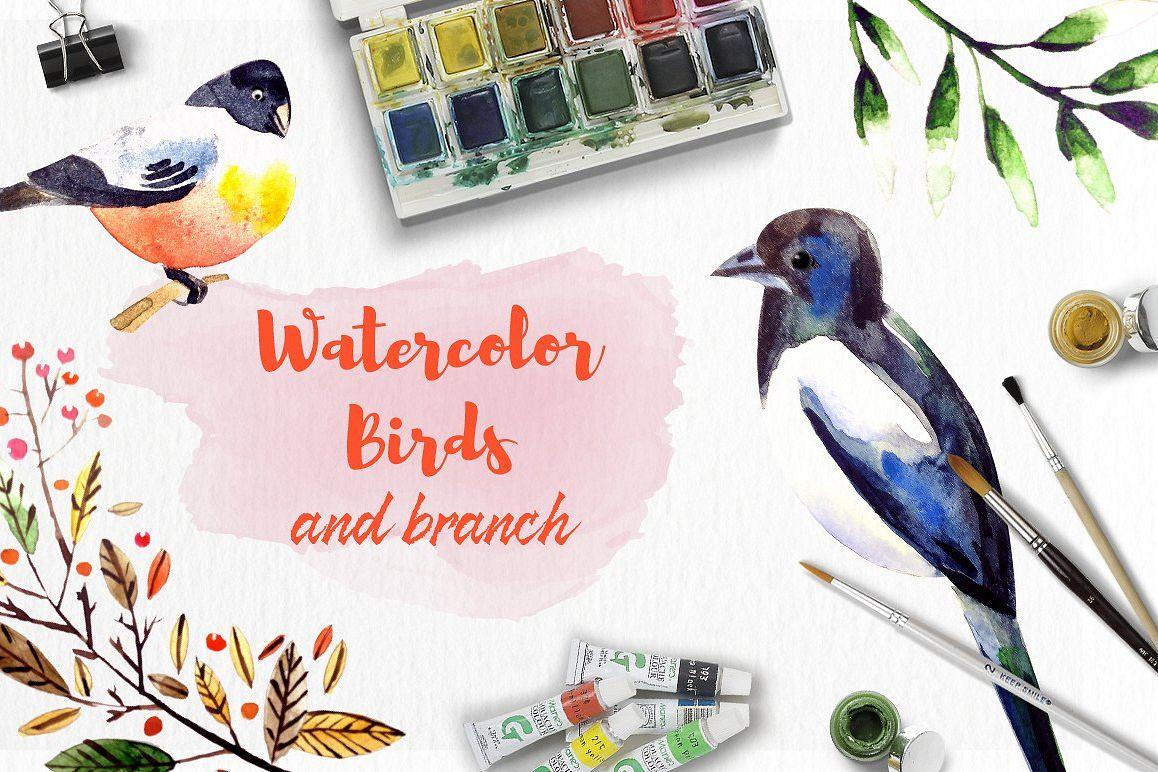 Watercolor Birds example image 1