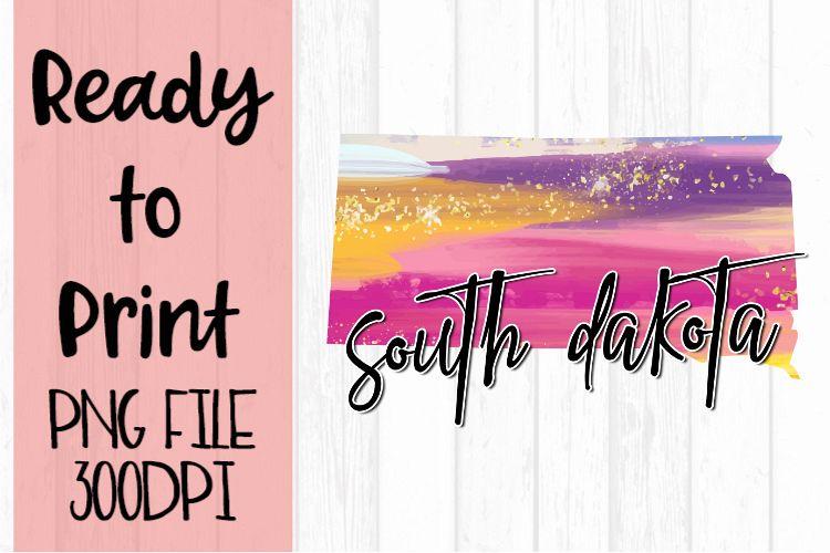 South Dakota Painted States Ready to Print example image 1