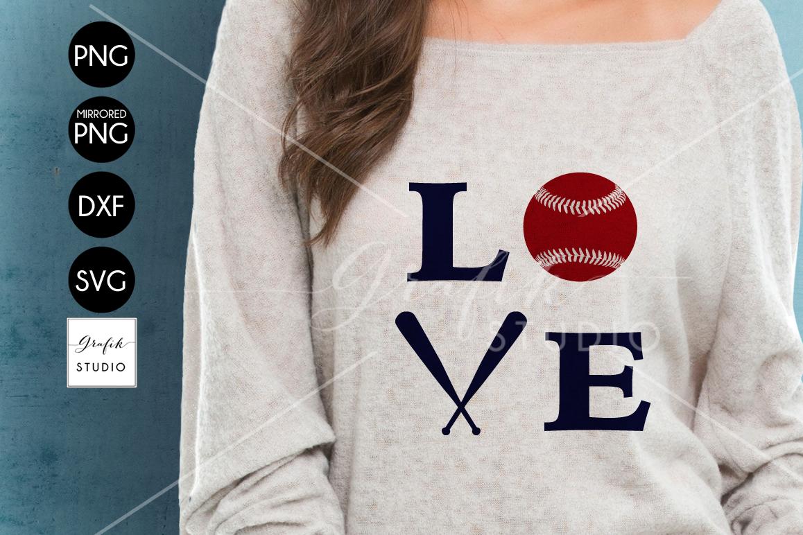 love baseball SVG File example image 1