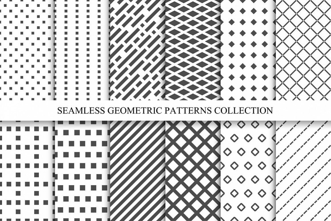 seamless geometric patterns set by exp design bundles