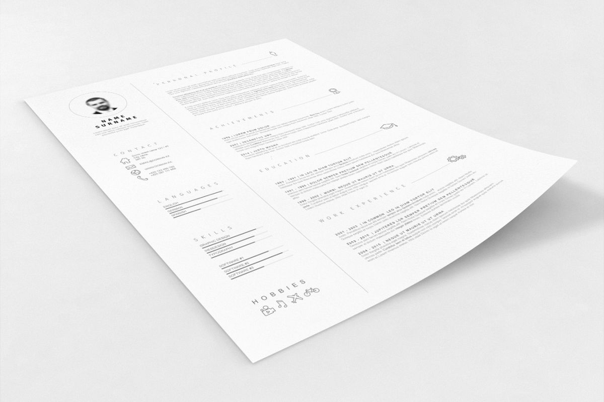 Minimalistic Resume Template example image 1