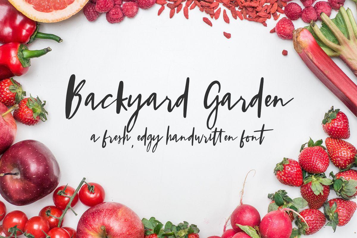 Backyard Garden Script example image 1