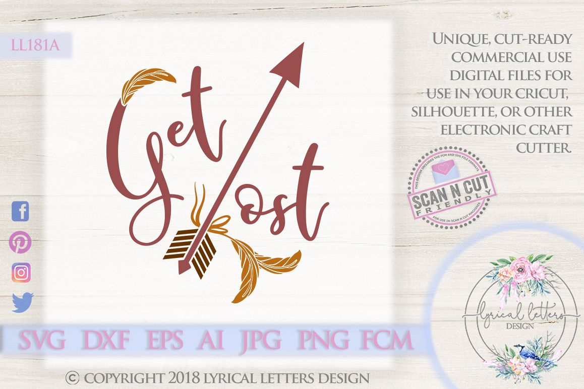 Get Lost with Arrow and Feathers SVG DXF LL181A example image 1