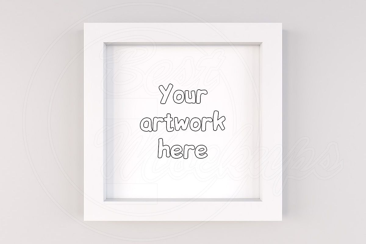 General white square mock up frame example image 1