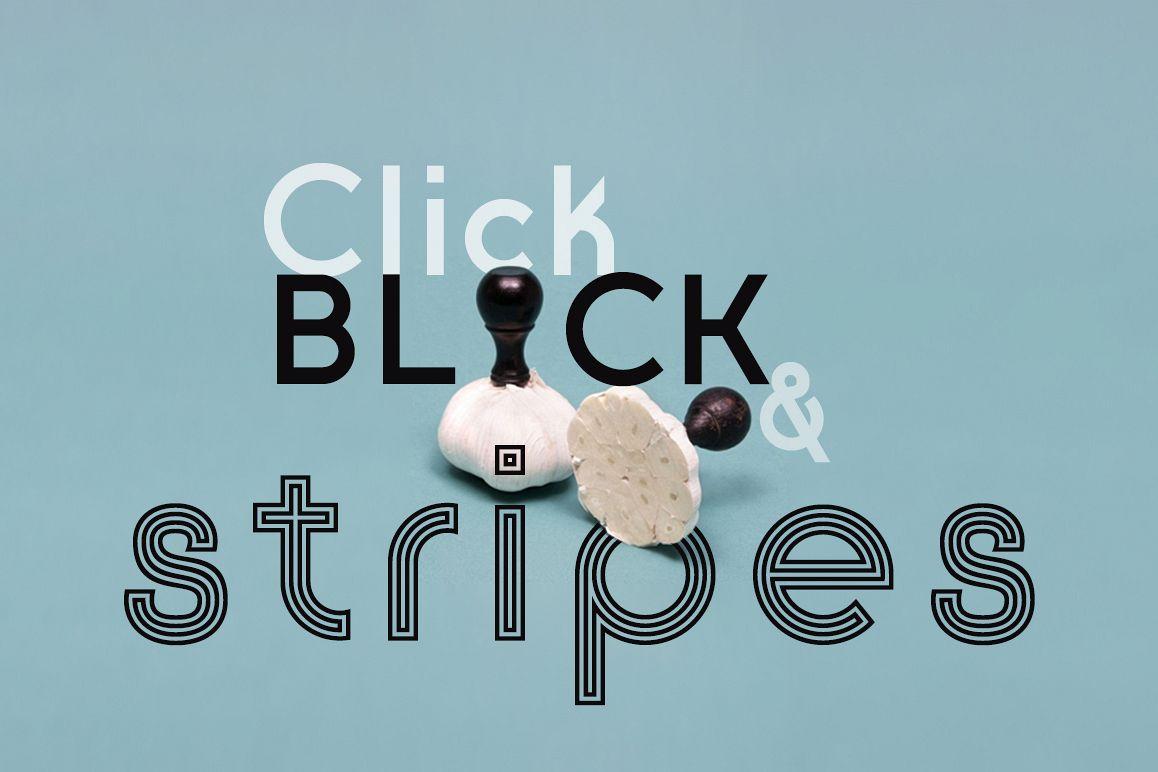 Click: Black & Stripes example image 1