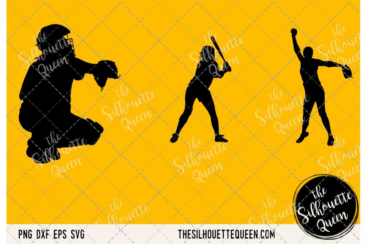 Softball Women SVG example image 1
