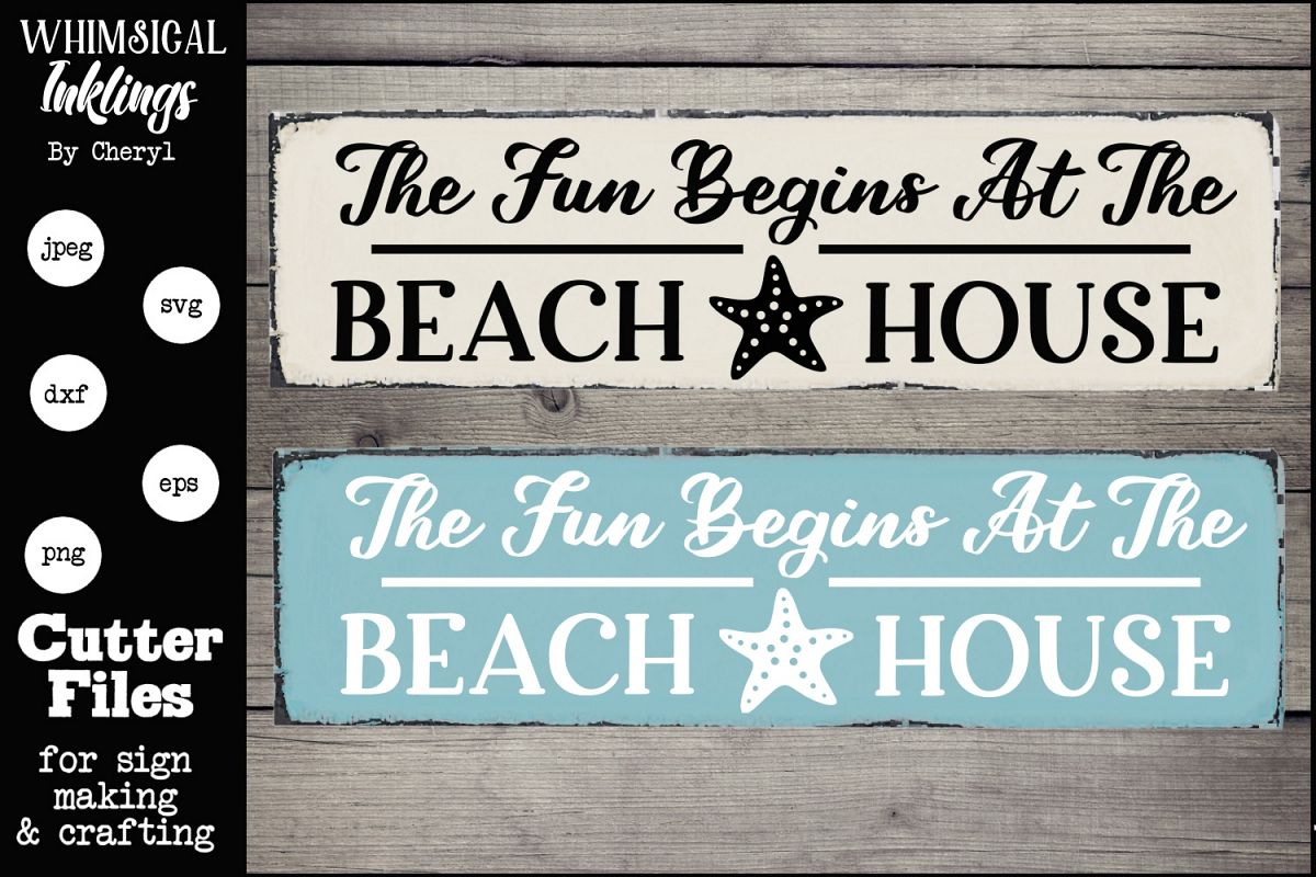 The Fun Begins At The Beach House SVG example image 1