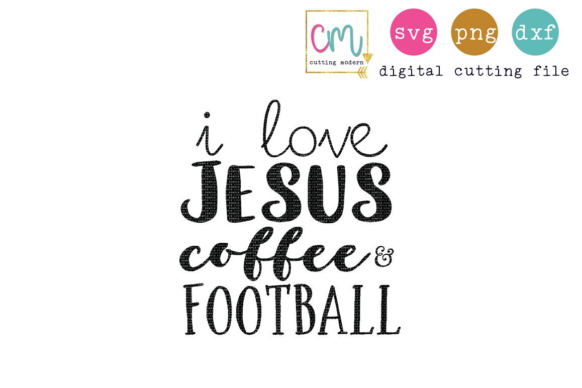 I Love Jesus Coffee And Football  example image 1
