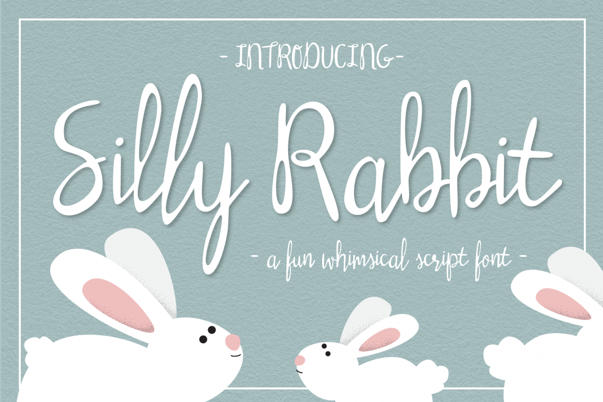 Silly Rabbit Script Font example image 1