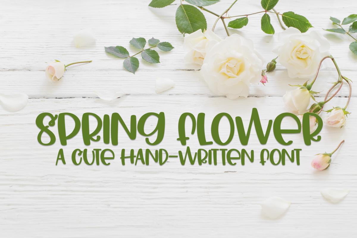 Spring Flower - A Cute Hand-Written Font example image 1