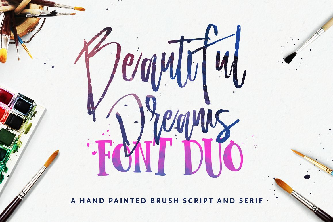 Beautiful Dreams - Font Duo example image 1