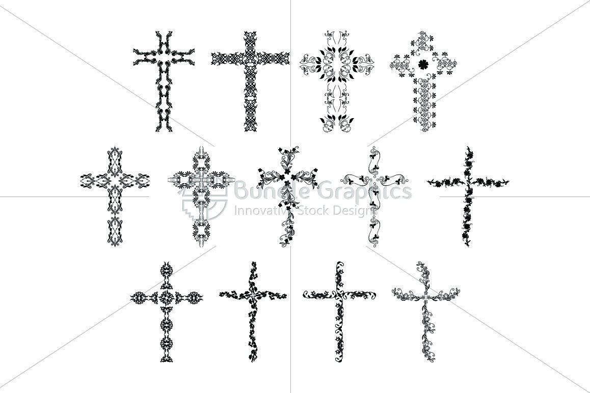 True Cross - Floral Design Elements example image 1