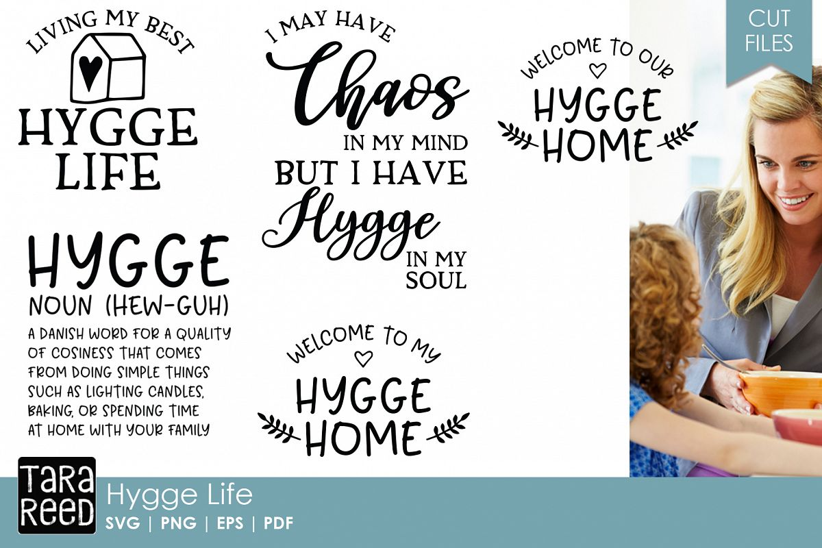 Hygge SVG and Cut Files for Crafters example image 1