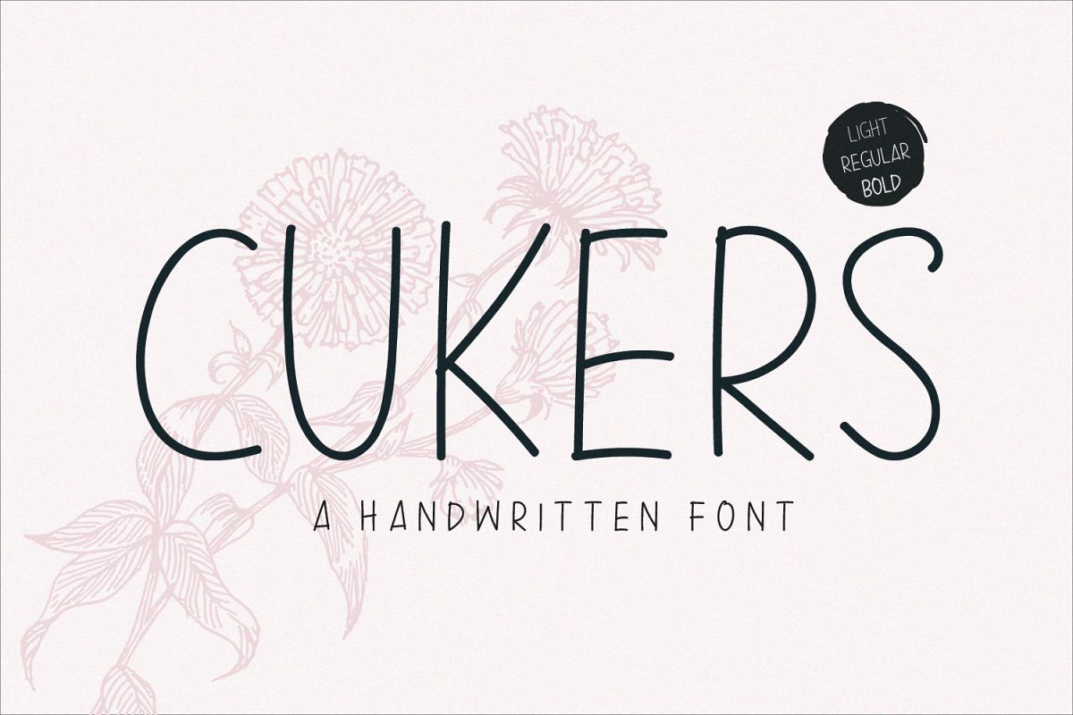 Cukers - A Handwritten Font example image 1