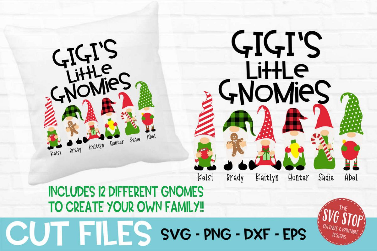 Gigi's Little Gnomies Christmas SVG, PNG, DXF, EPS example image 1