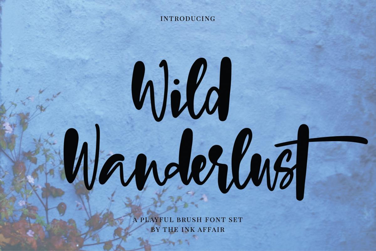 Wild Wanderlust Font  example image 1