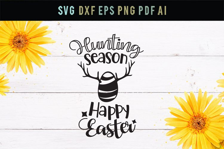 Hunting season, Easter egg svg, cut file, dxf, eps example image 1