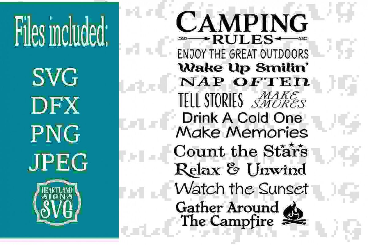 Camping Rules SVG example image 1