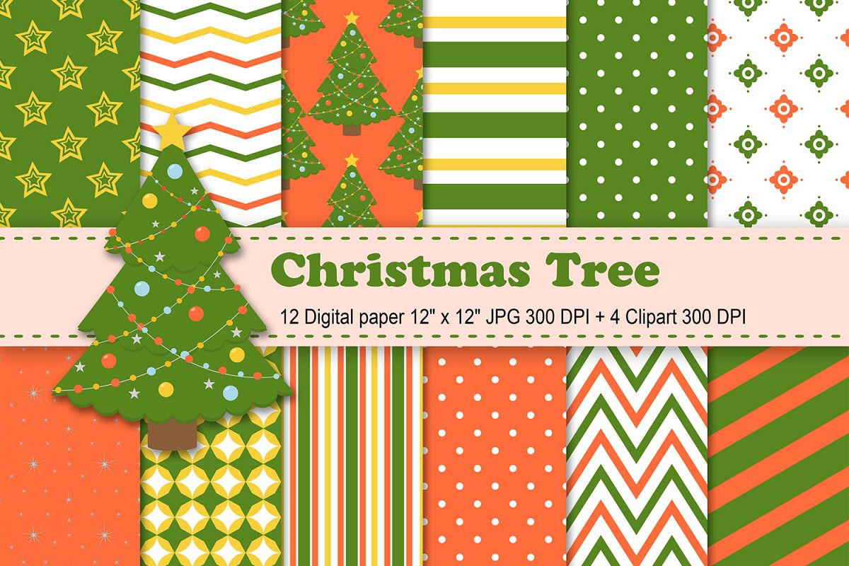 Christmas Trees Background Clipart.Christmas Digital Paper Christmas Tree Digital Paper Holiday Scrapbook Paper Christmas Tree Background Winter Patterns Christmas Tree Clipart