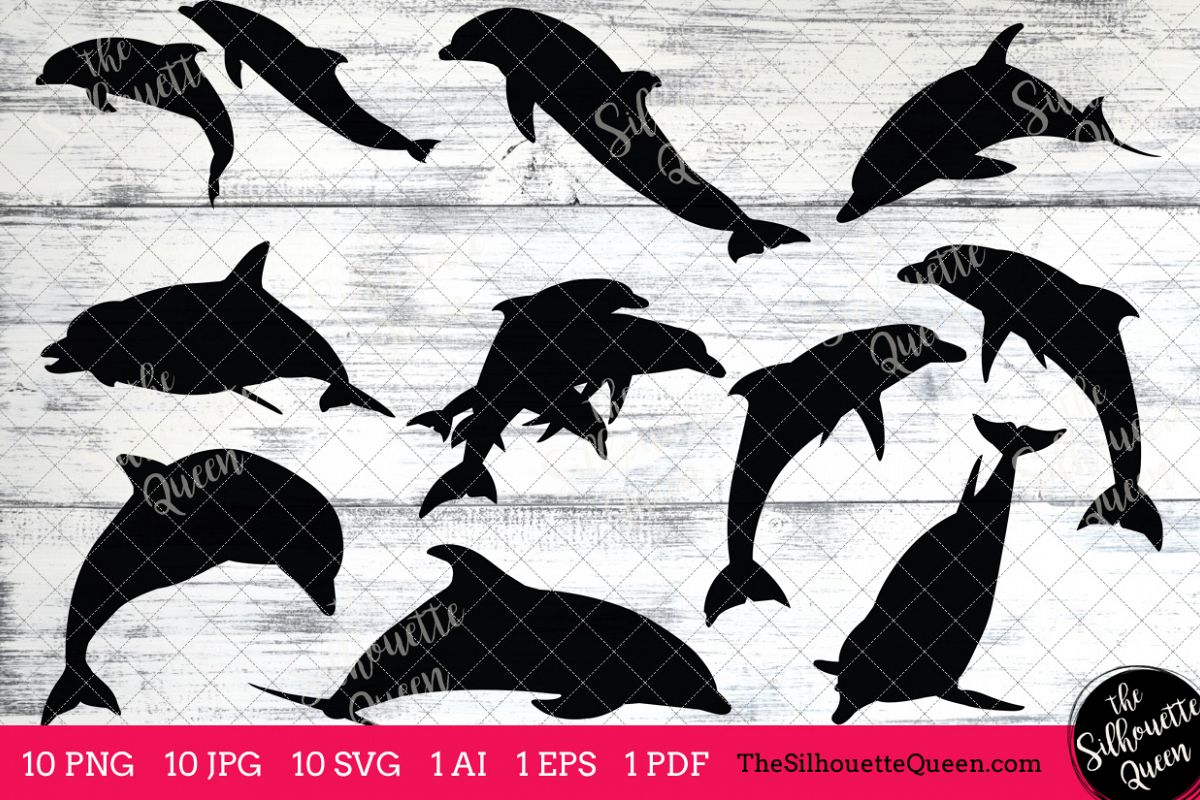 dolphin silhouettes clipart clip art ai eps svgs jpgs pngs pdf