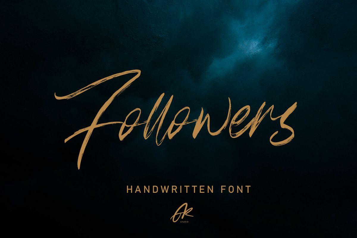 Follower Handwritten Brush Font example image 1