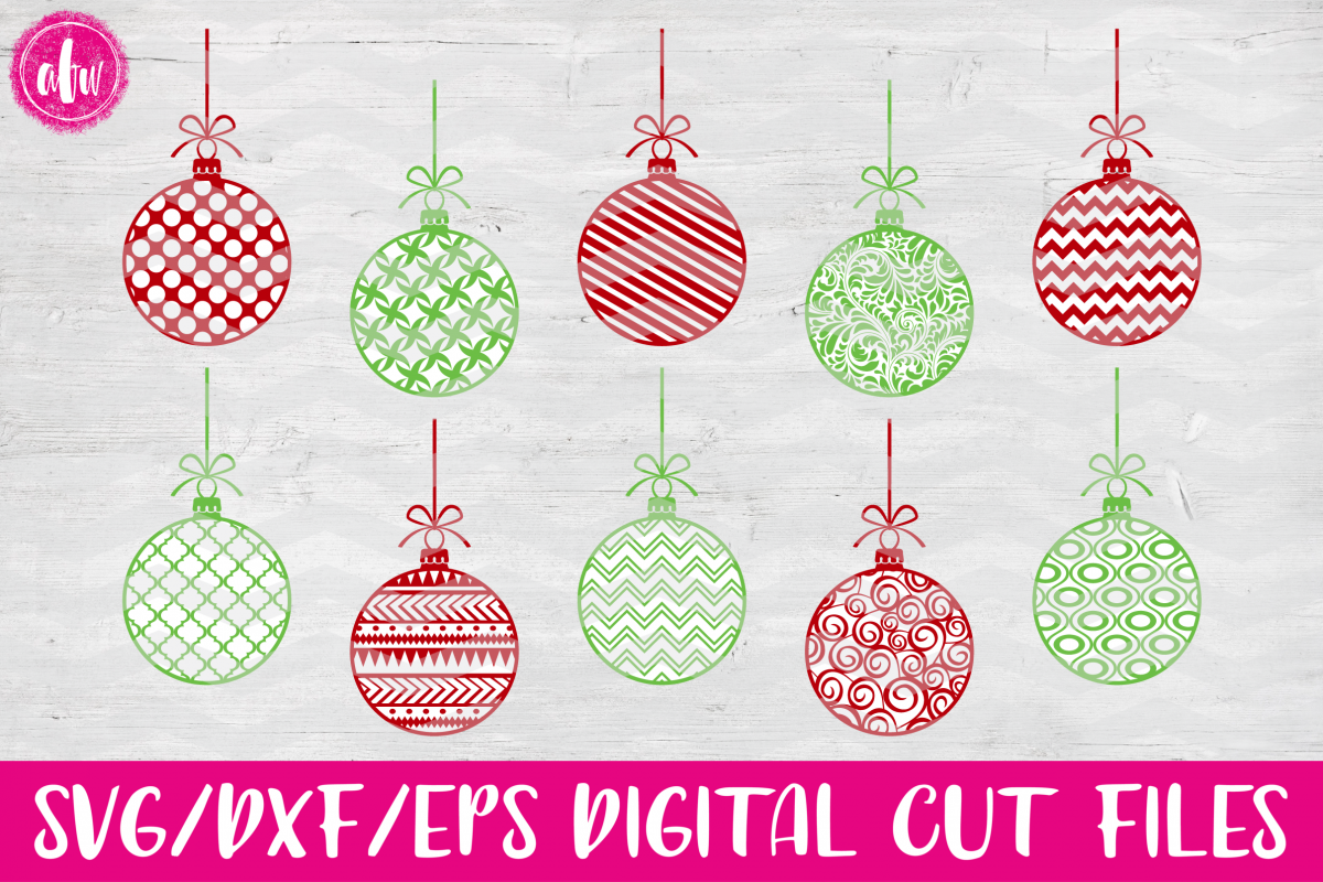 Pattern Christmas Ornaments Svg Dxf Eps Cut File