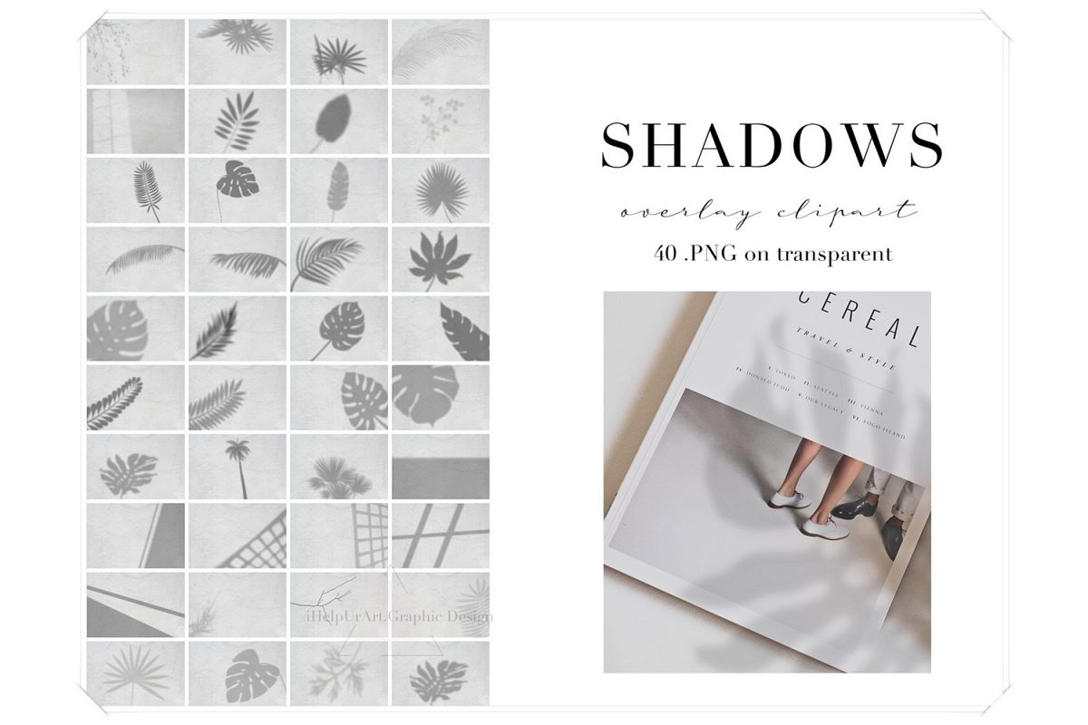 Realistic Shadow Clipart - Shadows Photo Overlays example image 1