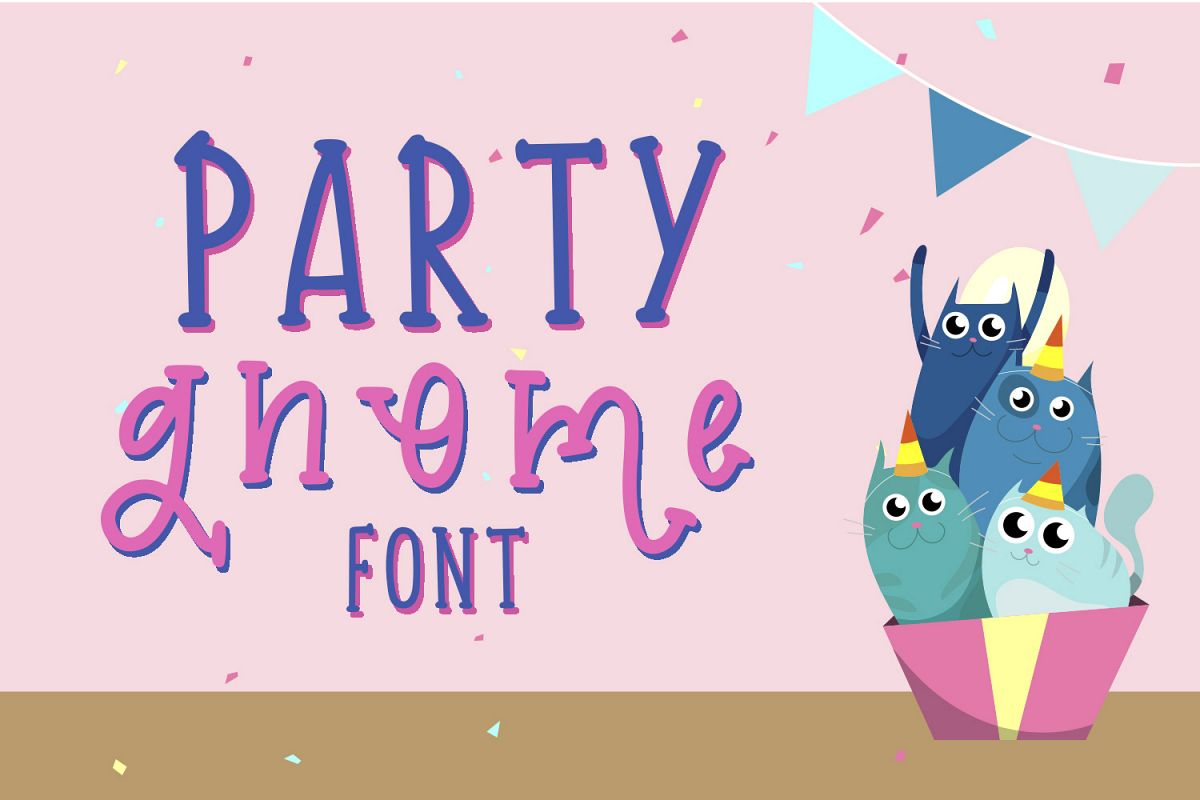 Party Gnome Font example image 1