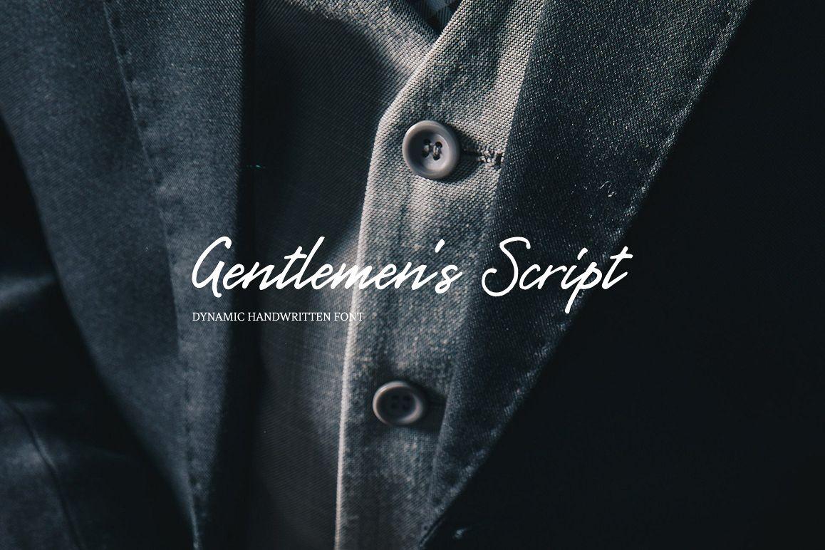 Gentlemen's Script example image 1
