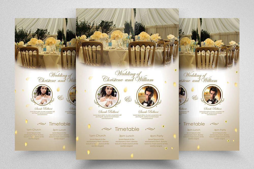 wedding planner agency flyer