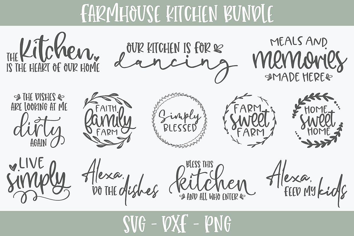 Farmhouse Kitchen Bundle - 12 Designs - SVG Cut Files example image 1