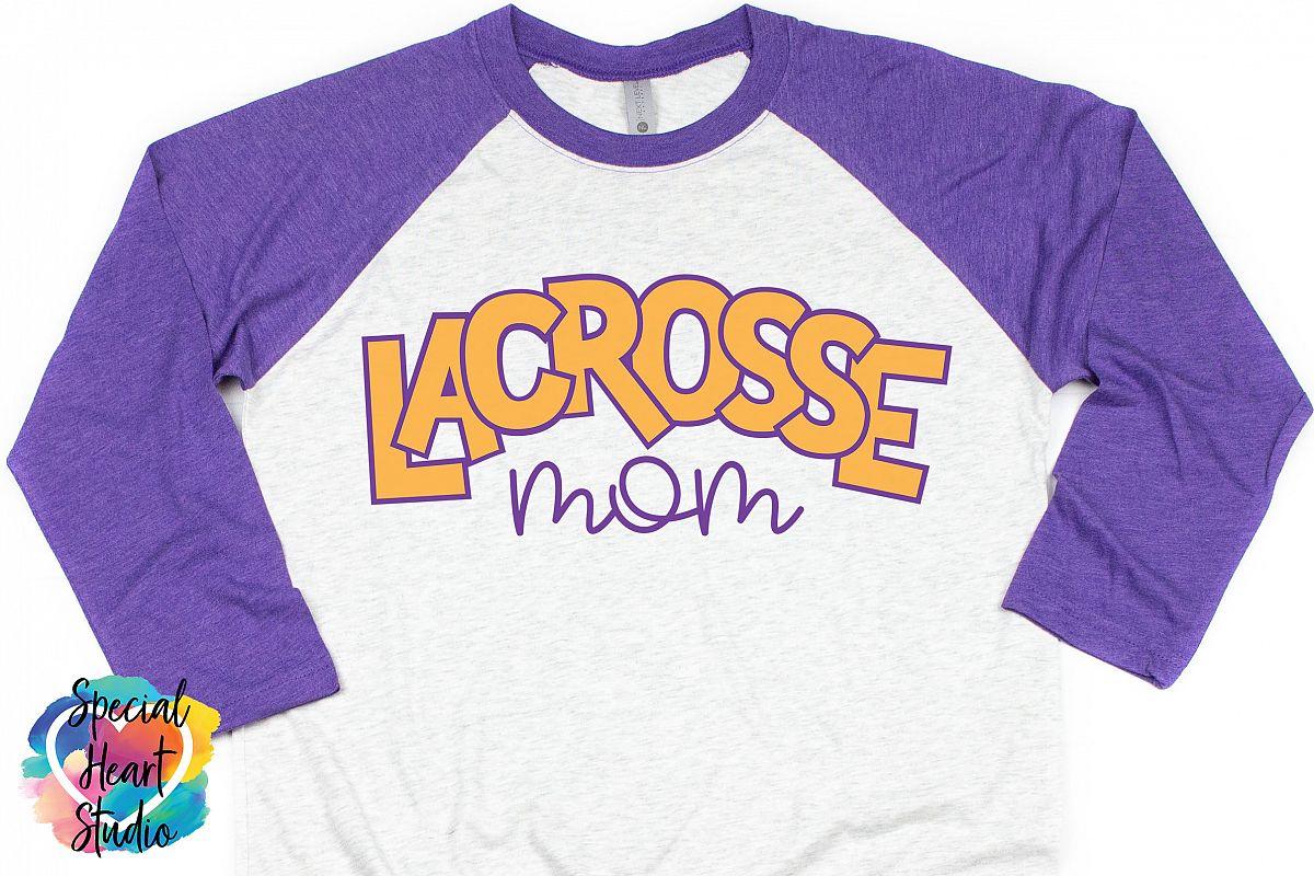 Lacrosse Mom - SVG - Sports - Lacrosse Cut file example image 1